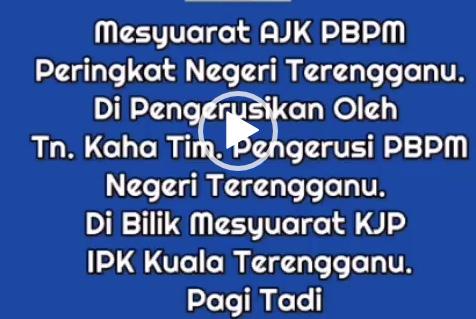 Mesyuarat PBPM Negeri Terengganu 2019